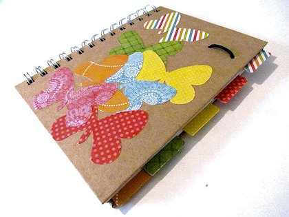 Die-Cut Decorated Notebook