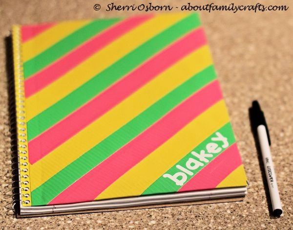 Duct Tape Notebook Craft