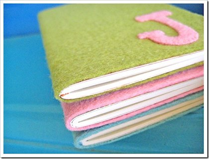 Felt Monogram Notebook