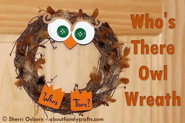 Who's There Owl Wreath