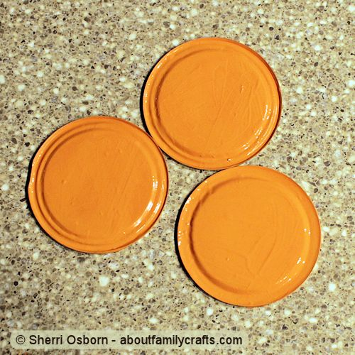 paint orange canning jar lids