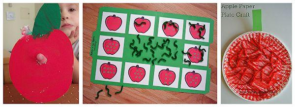 Wiggle Worm Apple Preschool Craft