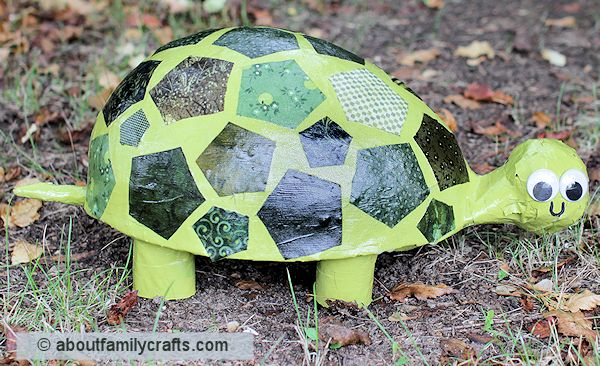 Fisnish the Paper Mache Turtle