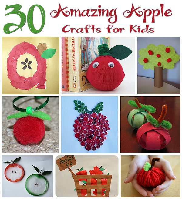 30 Apple Crafts for Kids
