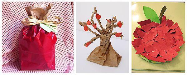 Paper Bag Apple Craft