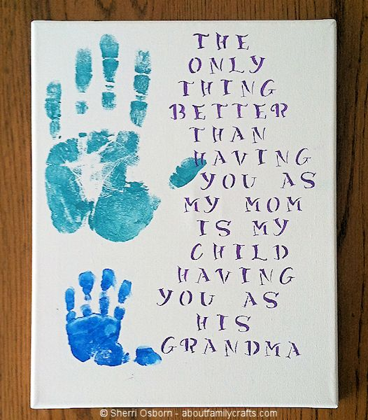 Handprint Grandparent's Day Gift