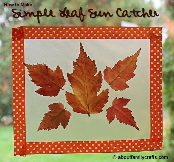 Simple Leaf Sun Catcher Craft