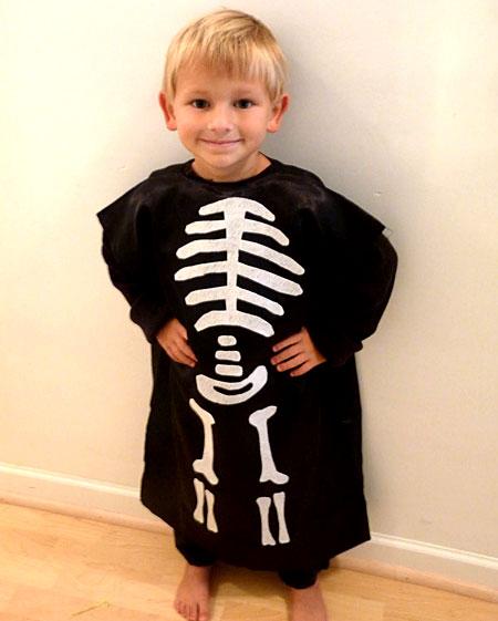 Skeleton Pillowcase Costume