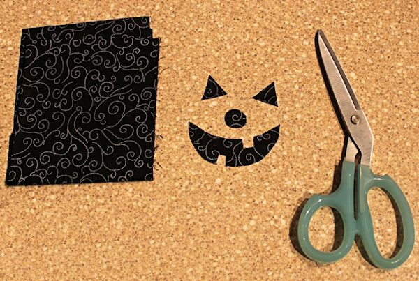 Cut Out the Fabric Jack-o-Lantern Face