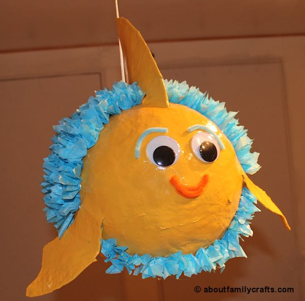 Paper Mache Fish Face