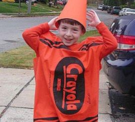 Pillowcase Crayon Costume