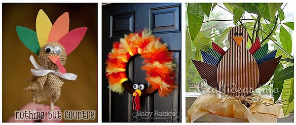 3 turkey crafts
