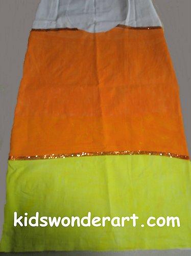 Pillowcase Candy Corn Costume