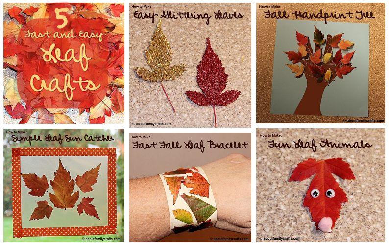 5 Fast and Easy Leaf Crafts