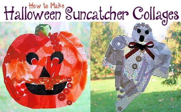 Halloween Suncatcher Collages