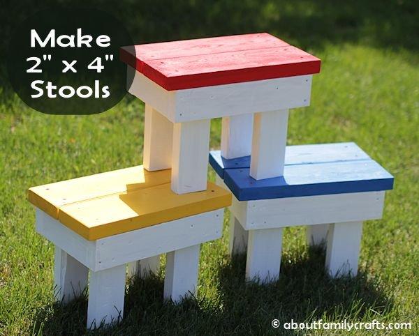 Make 2 x 4 stools