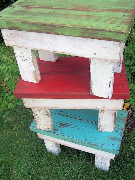 distressed stool