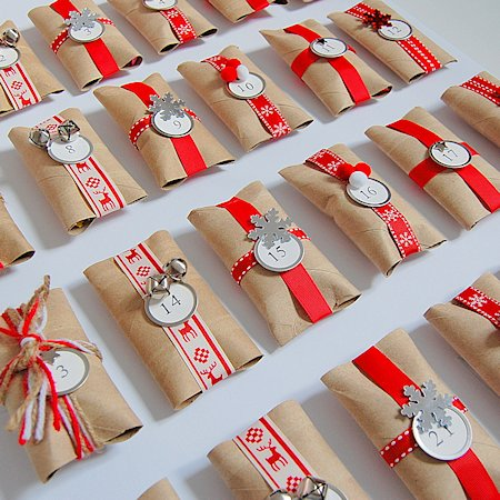 20 diy advent calendars about family crafts - Calendrier avent papier toilette ...