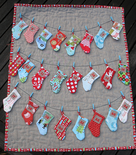 Diy Stocking Advent Calendar : Diy advent calendars about family crafts