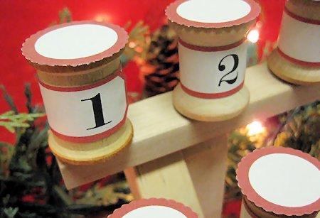 Simple Spool Advent Calendars