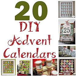 20 DIY Advent Calendars 250