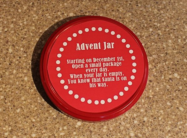 Glue the poem onto the jar lid