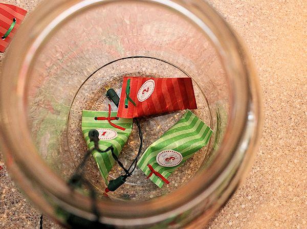 start filling the advent jar