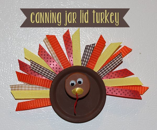 Canning Jar Lid Turkey Craft