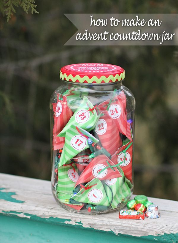 How to Make an Advent Countdown Jar