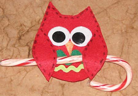 Owl Candy Cane Holders