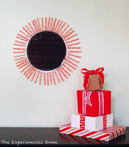 Candy Cane Starburst Mirror