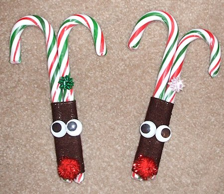 Candy Cane Reindeer Face