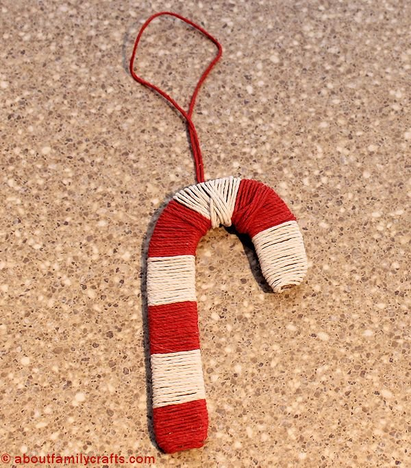 add hanger to your candy cane