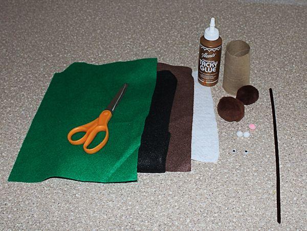 Supplies needed to make groundhog play set