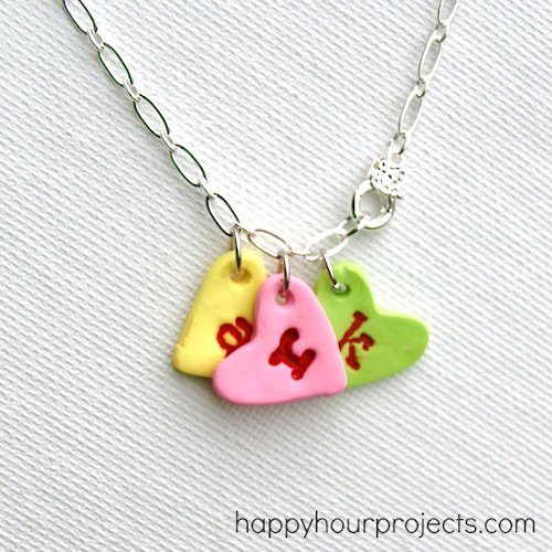 Conversation Heart Charm Bracelet Craft
