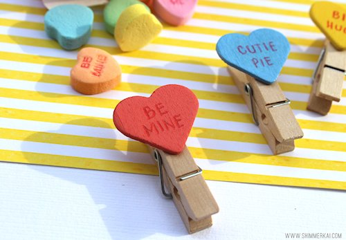 Candy Heart Clips Craft