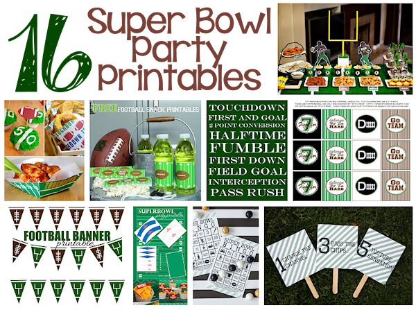 16 Printables for Your Super Bowl Party