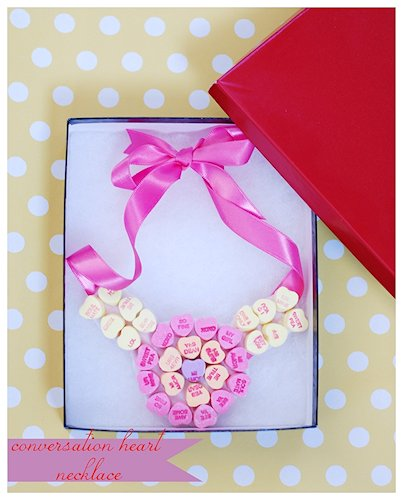Conversation Heart Necklace Craft