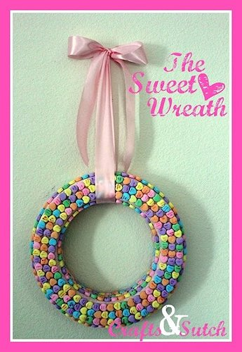 Conversation Candy Wreath Craft