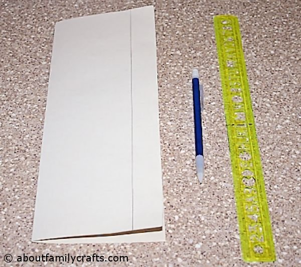 fold lantern paper in half