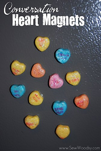 Conversation Heart Magnets Craft