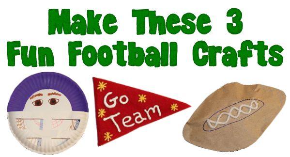 3 Fun Football Crafts