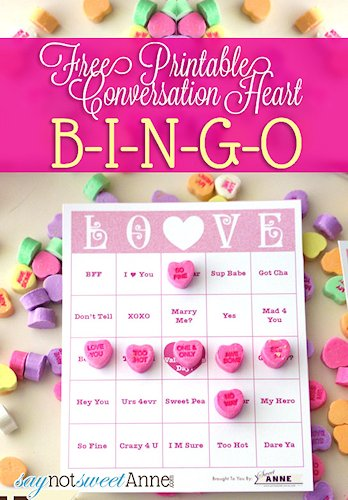 Conversation Heart Bingo Craft