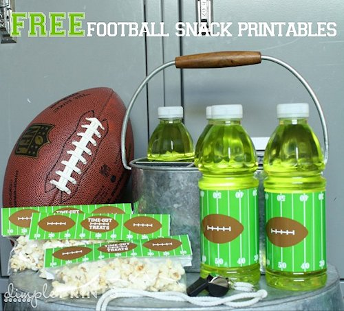 Football Snack Printables