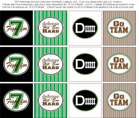 Football Tailgater Printables