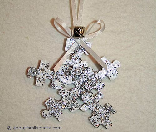 How to Make Snowflakes from Puzzle Pieces