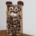 textured groundhog puppet 150