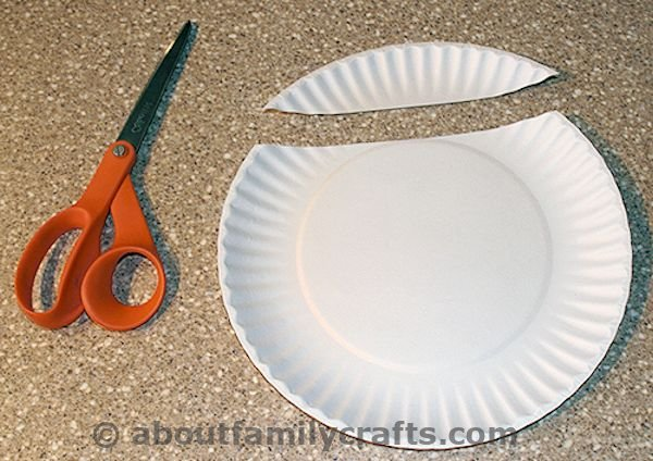 cut a piece off the paper plate