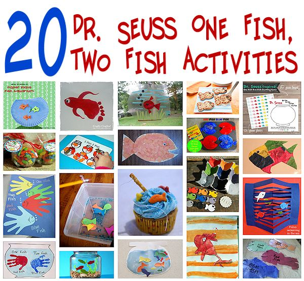 20 Dr Seuss One Fish, Two Fish Crafts and Activities