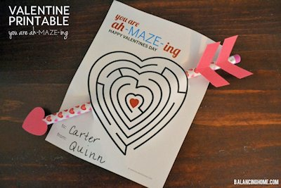 Valentine Maze and Pencil